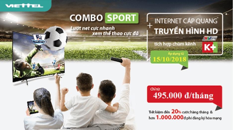 Gói Cước Combo Cáp Quang Viettel Net 7 (100Mbps)